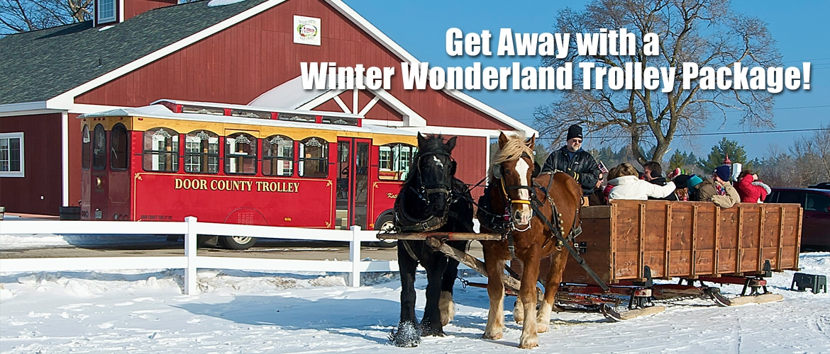 Door County Winter Trolley Amp Mayberry S Carriage And